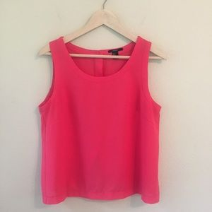 Forever 21 Pink Button Back Sleeveless Top